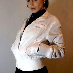 MEMBERS ONLY crisp white jacket